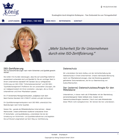 Screenshot Website König Consult