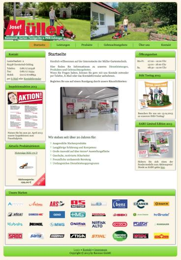 Screenshot Website Müller Gartentechnik