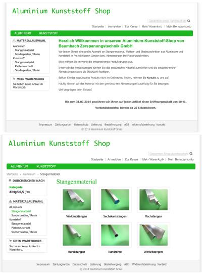 Aluminium Kunststoff Shop